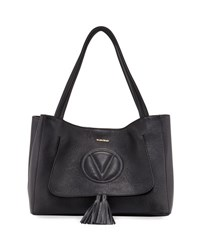 Valentino By Mario Valentino Ollie Dollaro Leather Tote Bag Gray