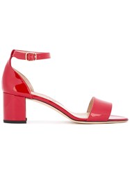 Manolo Blahnik Laura Sandals Red