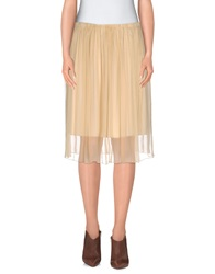 Soho De Luxe Knee Length Skirts Ivory