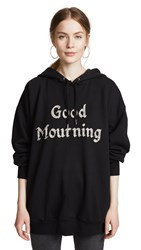 Ashish Good Mourning Beaded Hoodie Black