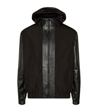 Mcq By Alexander Mcqueen Leather Panel Bomber Jacket Male Black