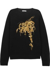 Chloe Embellished Wool And Cashmere Blend Sweater Black