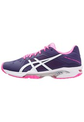 Asics Gelsolution Speed 3 Outdoor Tennis Shoes Parachute Purple White Hot Pink