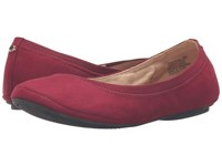 Bandolino Edition Wine Suede Women's Flat Shoes Burgundy