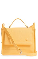 Danielle Nicole Nolan Faux Leather Crossbody Bag Yellow Mustard Snake