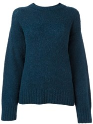 Alexander Wang T By Chunky Knit Jumper Blue