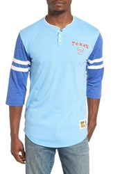 Mitchell And Ness Men's Home Stretch Texas Rangers Henley