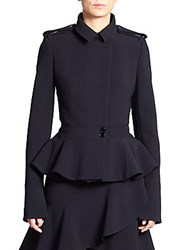 Alexander Mcqueen Military Peplum Jacket Midnight