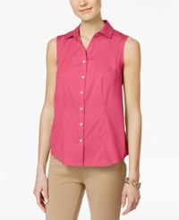Charter Club Sleeveless Shirt Only At Macy's Glamour Pink