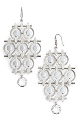 Badgley Mischka Women's Chandelier Drop Earrings Silver