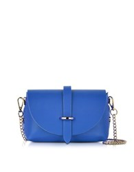 Le Parmentier Small Blue Leather Shoulder Bag