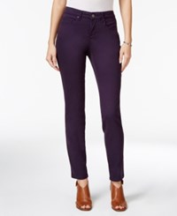 Styleandco. Style Co. Curvy Fit Colored Wash Skinny Jeans Only At Macy's Dark Grape