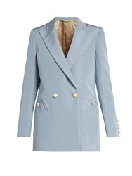 Blaze Milano Everyday Shamrock Silk Faille Blazer Light Blue