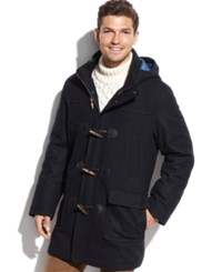 Tommy Hilfiger Toggle Navy Solid Hooded Overcoat