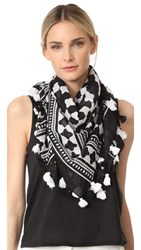 Kate Spade New York Lantern Square Scarf Black
