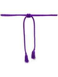Vivetta Rope Belt Cotton Acrylic Pink Purple