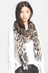 Badgley Mischka Cheetah Print Scarf Brown Multi