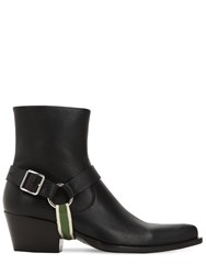 Calvin Klein 205W39nyc 60Mm Leather Western Boots Black