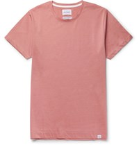 Norse Projects Esben Slim Fit Cotton Jersey T Shirt Pink