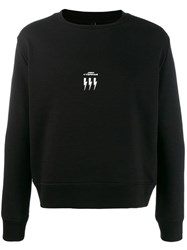 Neil Barrett Crew Neck Logo Sweater Black