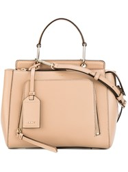 Donna Karan Small Tote Women Calf Leather One Size Nude Neutrals