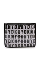 Dkny Flat Cosmetic Pouch Black