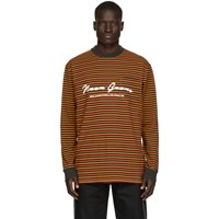 Noon Goons Burgundy And Orange Stripe Patricia Long Sleeve T Shirt