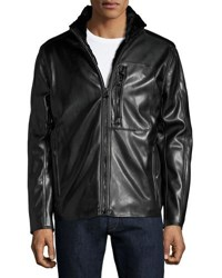 Marc New York Gilead Faux Leather Jacket Jet Black
