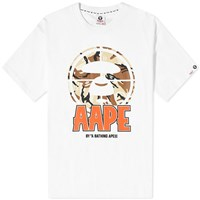 Aape By A Bathing Ape Front Target Tee White