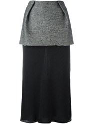 Maison Martin Margiela Layered Midi Skirt Black