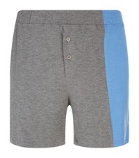 Homebody Contrast Panel Lounge Shorts Grey