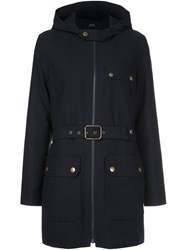 A.P.C. Belted Coat Blue
