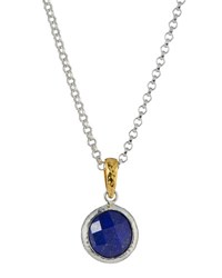 Gurhan Round Lapis Pendant Necklace Blue