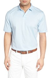Peter Millar Men's Nanoluxe Golf Polo Tar Heel Blue