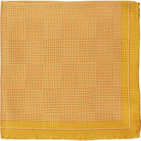 Fairfax Men's Micro Dot Silk Pocket Square Gold
