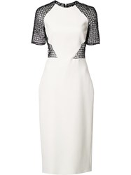 David Koma Interlaced Sheer Back Dress White