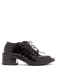 Simone Rocha Exaggerated Sole Lace Up Leather Shoes Black