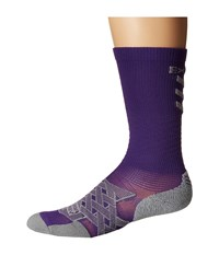 Thorlos Experia Energy Over The Calf Single Pair Electric Purple Crew Cut Socks Shoes