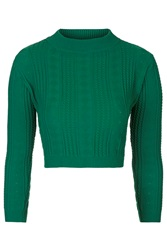 Marlin Cable Knit Crop Top By Jovonna Green