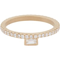 Monique Pean Women's Diamond And Gold Stacking Band No Color