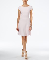Armani Exchange Boat Neck A Line Dress A Macy's Exclusive Style Pale Rose