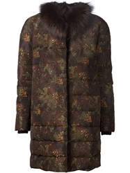 Moncler Gamme Rouge Printed Padded Coat