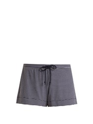 Skin Striped Jersey Pyjama Shorts Navy White