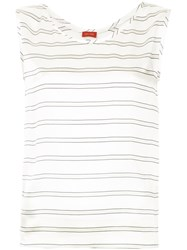 Des Pres Striped Tank Top White