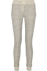 Enza Costa French Cotton Terry Track Pants Gray