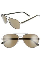Boss Men's '0761 S' 60Mm Polarized Aviator Sunglasses Matte Ruthenium Khaki