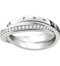 Thomas Sabo Glam And Soul Together Forever Sterling Silver Intertwined Ring
