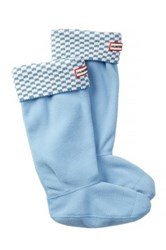 Hunter Original Tall Square Brick Boot Sock Blue