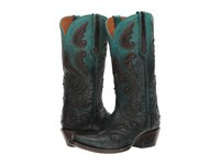 Lucchese Gemma Ombre Aqua W Studs Women's Shoes Black