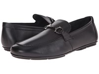 Salvatore Ferragamo Nowell Buckle Loafer Nero Men's Slip On Dress Shoes Black
